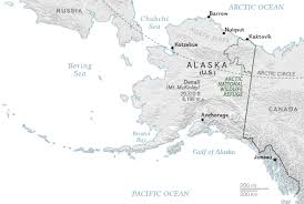 Alaska Map Cities by Why Obama Is The First President To Visit The Arctic
