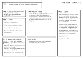 One Sheet Template Production One Sheet