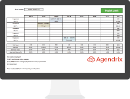 Employee Schedule Template Excel Best Free Excel Schedule Template For Employee Scheduling Agendrix