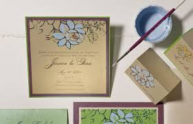 watercolor lotus wedding invitations momental designsmomental designs