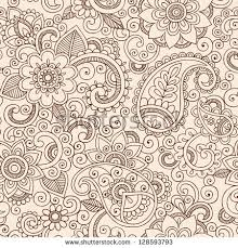 henna paisley flowers mehndi tattoo doodles stock vector 116481802