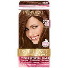 best box hair color for gray hair l oreal 5cb warmer medium chestnut brown hair color 1 kt box