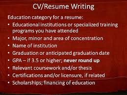 education for a resume curriculum vitae resume writing ppt video online download