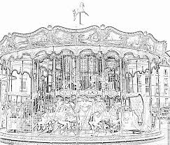 merry go round coloring pages carousel venician coloring pages printable u0026 free merry go