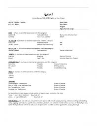 Resume Sample New Format by Child Actor Resume Format 21 Special Skills Acting Resume Template