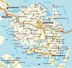 Uo Map Island Map Funen Syddanmark Denmark Maps And Directions At Map