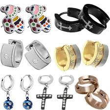 clip on earrings for men mixed order fashion jewelry wholesale cool men stud earring clip