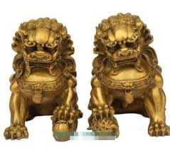 gold lion statues suirong 620 large pair bronze lion foo dog statue figure