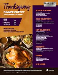 thanksgiving buffet mac 24 7 restaurant bar