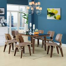 modway fathom dining chairs set of 2 in walnut beyond stores