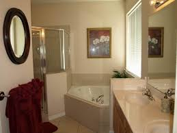 bathroom charming guest bathroom idea with oval mirror and