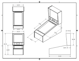 virtual pinball cabinet plans completed tredog s mini pin arcade