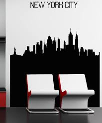vinyl wall decal sticker nyc buildings silhouette 5240