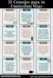 qu礬 hacer y no hacer en tu curriculum vitae infografia