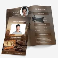 printable funeral programs fishing funeral phlets