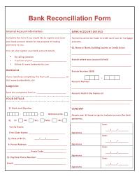 Resume Templates Printable Printable Bank Reconciliation Form Http Resumesdesign Com