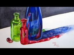 how to paint glass bottles in watercolor live fridays youtube