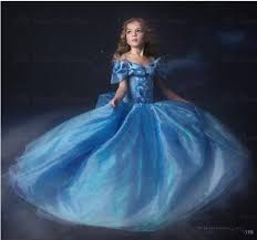 Blue Butterfly Halloween Costume Movie Sandy Princess Cinderella Dress Cosplay Costume Girls Blue