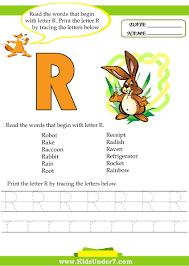 kids under 7 alphabet worksheets trace and print letter r