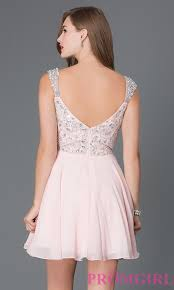 jewel embellished short prom dress promgirl