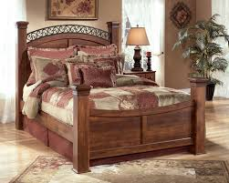 Country Bed Frame Signature Design By Timberline Poster Bed Sol