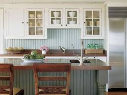 Wainscoting Kitchen Backsplash by Home Design Beadboard Backsplash Wood Countertop Small Kitchen