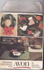 mccall u0027s avon christmas crafts sewing pattern uncut stocking