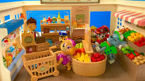 learn names fruits vegetables food paw patrol supermarket