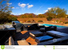 Southwest Home Plans Southwest Home Backyard Pool And Patio Stock Photo Image 39046671