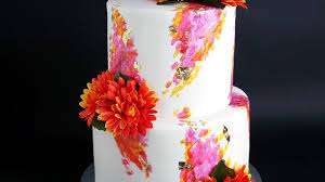 Painted Two Tier Engagement Wedding Cake Rosie U0027s Dessert Spot