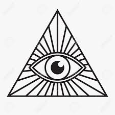 all seeing eye symbol vector illustration