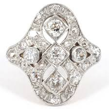 art deco diamond gold platinum ring antique jewellery uk