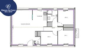 plan de maison 3 chambres salon maison 3 chambres à la maisons d en nouvelle aquitaine