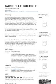 Athletic Resume Template Free Sports Resume Template Gfyork Com