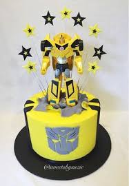 transformers bumblebee and optimus party cake topper transformers children s birthday cakes party ideas