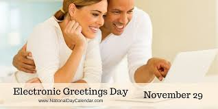 electronic greetings day november 29 national day calendar