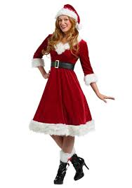 mrs claus costumes plus size santa claus sweetie costume for women