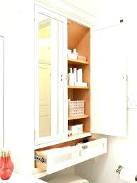 bathroom wall cabinet with mirrored door and shelves telecure me