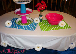 flower table cloth weights a tipsy