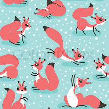 squirrel wrapping paper squirrels snowfall seamless winter pattern for