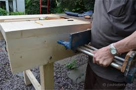 Work Bench With Vice How To Build A Workbench U2013 Fitting The Vise Part14 Paul