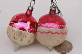 vintage antique glass tree ornaments shabby worn fancy
