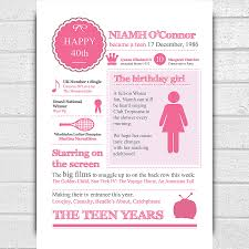 birthday invitation for teenager 40th birthday teenage years personalised print by afewhometruths