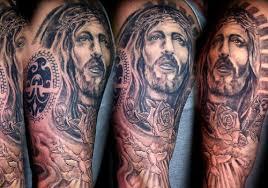 religious full sleeve christ tattoo designs for men tattoo love