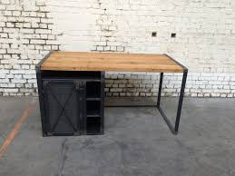 bureau bois bureau rg bu005 giani desmet meubles indus bois métal et cuir
