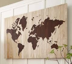 Diy World Map Wall Decor