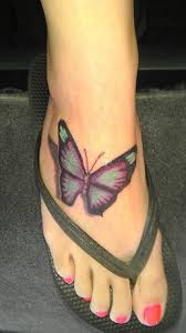 collection of 25 violet butterflies ankle design
