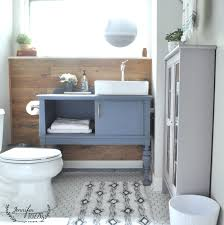 Cornflower Blue Bathroom by Eleven Stunning Bathroom Transformations From Thrifty Decor