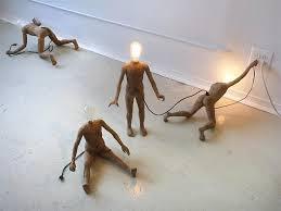 miniature light bulb people