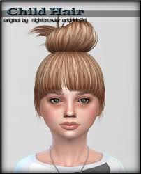 sims 4 hair cc sims 4 cc s the best hair for child by shojoangel